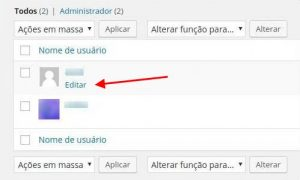 Usuários WordPress